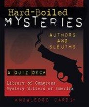 Load image into Gallery viewer, Hard-Boiled MYSTERIES - Authors and Sleuths Quiz Deck (Collectible-Out of Print) - Conundrum House