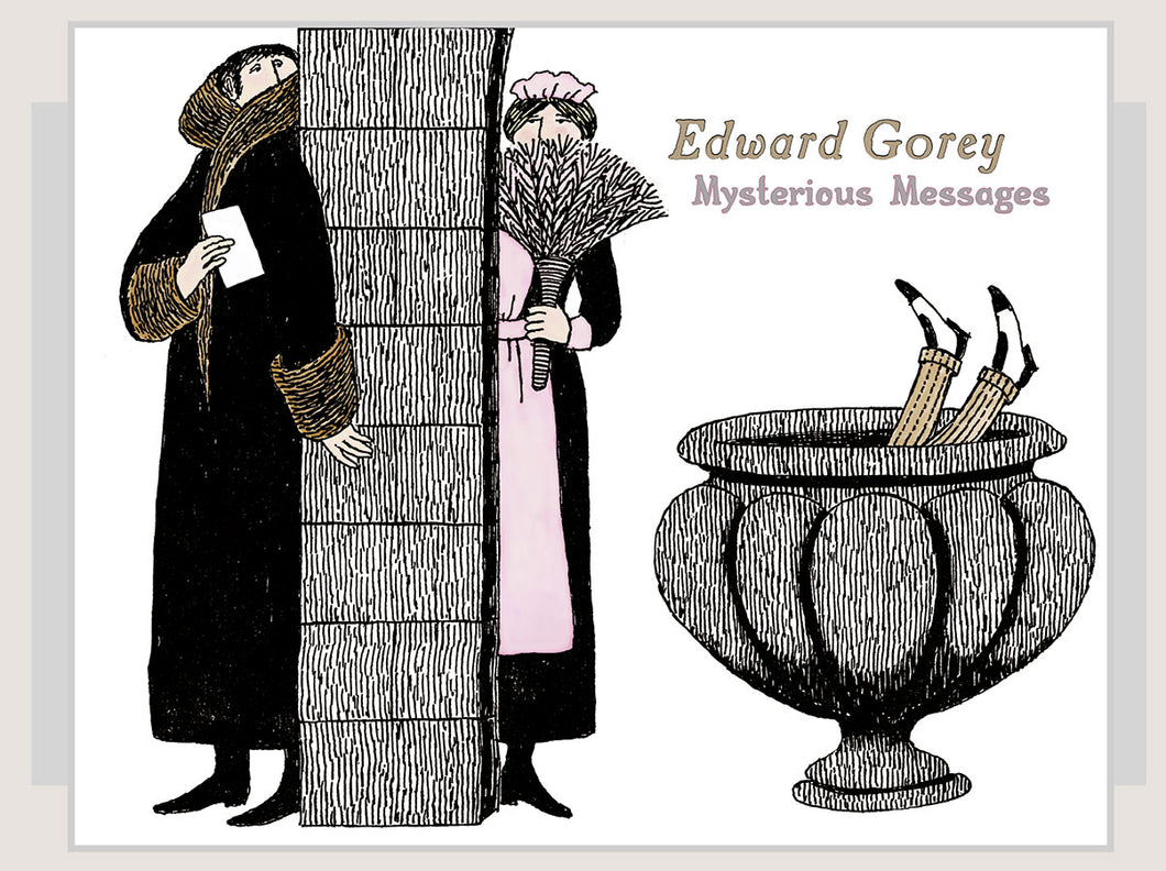 Edward Gorey: Mysterious Messages Boxed Notecards - Conundrum House