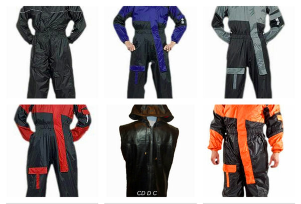 CD D C Mens 1 Piece Biker Motorcycle Rain Suits Wind Proof And Water Proof S to 4XL