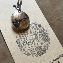 Load image into Gallery viewer, Cheerio! Stitch Marker, Progress Keeper, Planner Charm Zipper Pull