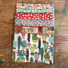 Load image into Gallery viewer, Large Flat Pouch Mint Vintage OOAK Fabric
