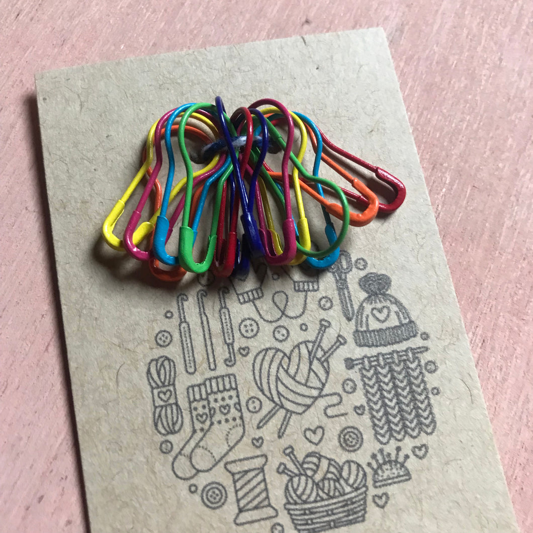Bulb Pin Stitch Markers, Progress Keepers, Planner Charms set of 14