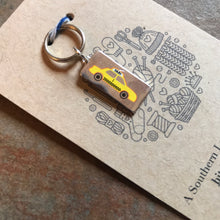Load image into Gallery viewer, New York Taxi Stitch Marker, Progress Keeper, Planner Charm
