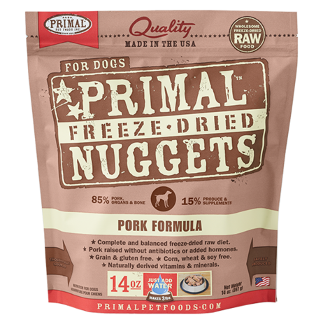 NUGGETS 14OZ RAW FREEZE-DRIED CANINE PORK FORMULA