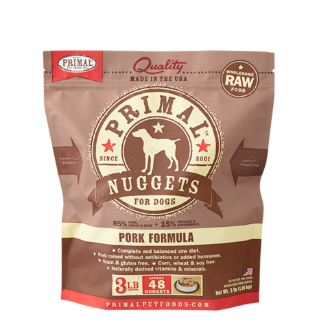 NUGGETS 3LB RAW FROZEN CANINE PORK FORMULA