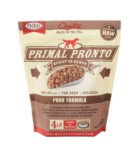 PRONTO 4LB RAW FROZEN CANINE PORK FORMULA