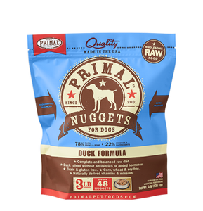 NUGGETS 3LB RAW FROZEN CANINE DUCK FORMULA