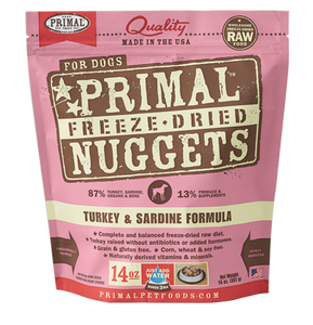NUGGETS 14OZ RAW FREEZE-DRIED CANINE TURKEY & SARDINE FORMULA