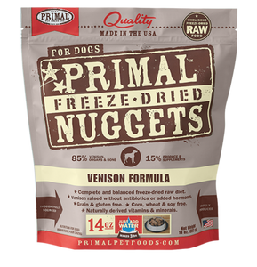 NUGGETS 14OZ RAW FREEZE-DRIED CANINE VENISON FORMULA