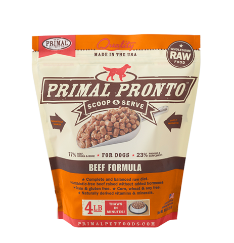 PRONTO 4LB RAW FROZEN CANINE BEEF FORMULA