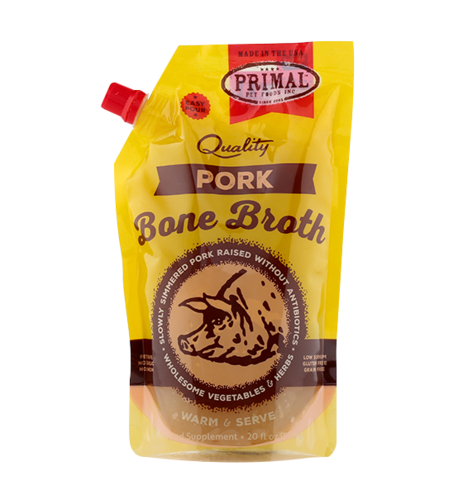 20 OZ. EASY POUR RE-CLOSABLE POUCH PORK BONE BROTH
