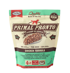 PRONTO 4LB RAW FROZEN CANINE CHICKEN FORMULA