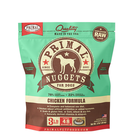 NUGGETS 3LB RAW FROZEN CANINE CHICKEN FORMULA
