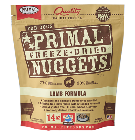 NUGGETS 14OZ RAW FREEZE-DRIED CANINE LAMB FORMULA