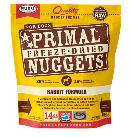 NUGGETS 14OZ RAW FREEZE-DRIED CANINE RABBIT FORMULA