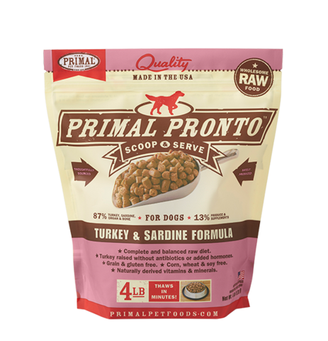 PRONTO 4 LB RAW FROZEN CANINE TURKEY & SARDINE FORMULA