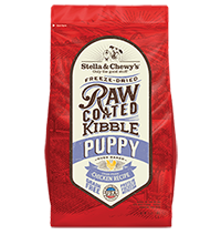 Cage-Free Chicken Recipe Raw Coated Baked Kibble for Puppies