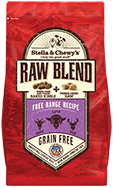 Free Range Recipe Raw Coated Baked Kibble + Freeze-Dried Meal Mixers
