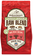Small Breed Red Meat Recipe Raw Coated Baked Kibble + Freeze-Dried Meal Mixers