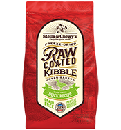 Cage-Free Duck Recipe Raw Coated Baked Kibble