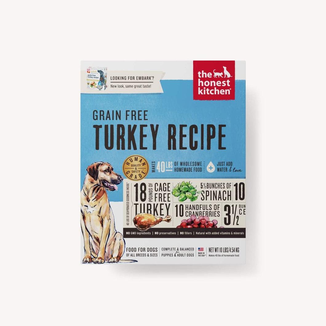 DEHYDRATED - GRAIN FREE TURKEY RECIPE (EMBARK)