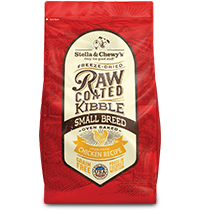 Cage-Free Chicken Recipe Raw Coated Baked Kibble for Small Breeds