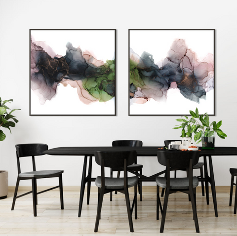Enchanted and spellbound artworks hanging on the wall