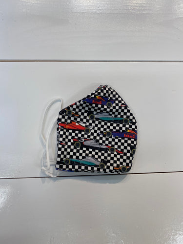 Checkered Race Car Mask