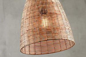 Noko Natural Wicker Conical Pendant
