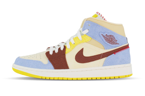 "Air Jordan 1 Retro Mid SE NA ""FEARLESS/MAISON CHATEAU ROUGE"""