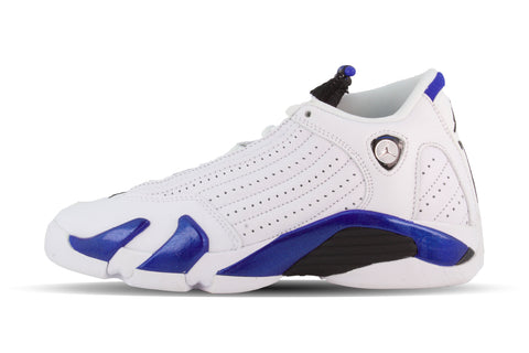 "Air Jordan 14 Retro GS ""WHITE HYPER ROYAL"""