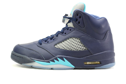 air jordan 5 retro midnight navy\/trqs blue white flag