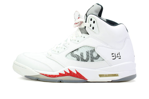 "Air Jordan 5 Retro Supreme ""WHITE"""
