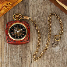 Load image into Gallery viewer, wood pocket watch