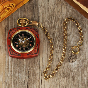wood pocket watch