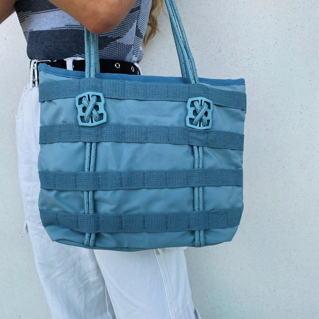 Utility Mini Tote Bag - Steel Blue - FLXNfashion