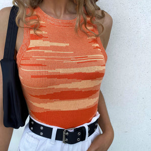 Glitch Tank Top - Orange - FLXNfashion