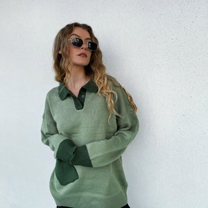 Pocket Knit Polo - Sage Green - FLXNfashion