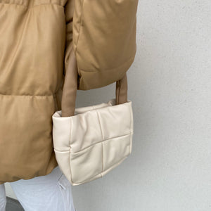 The Puffer Handbag - Tan - FLXNfashion