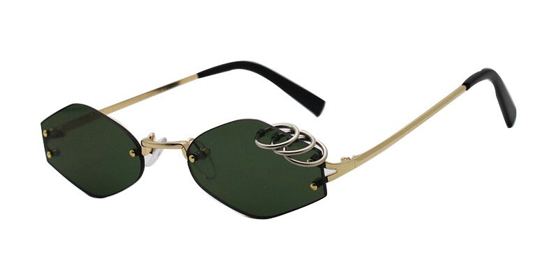 PIERCED SHADES - Green/Gold - FLXNfashion