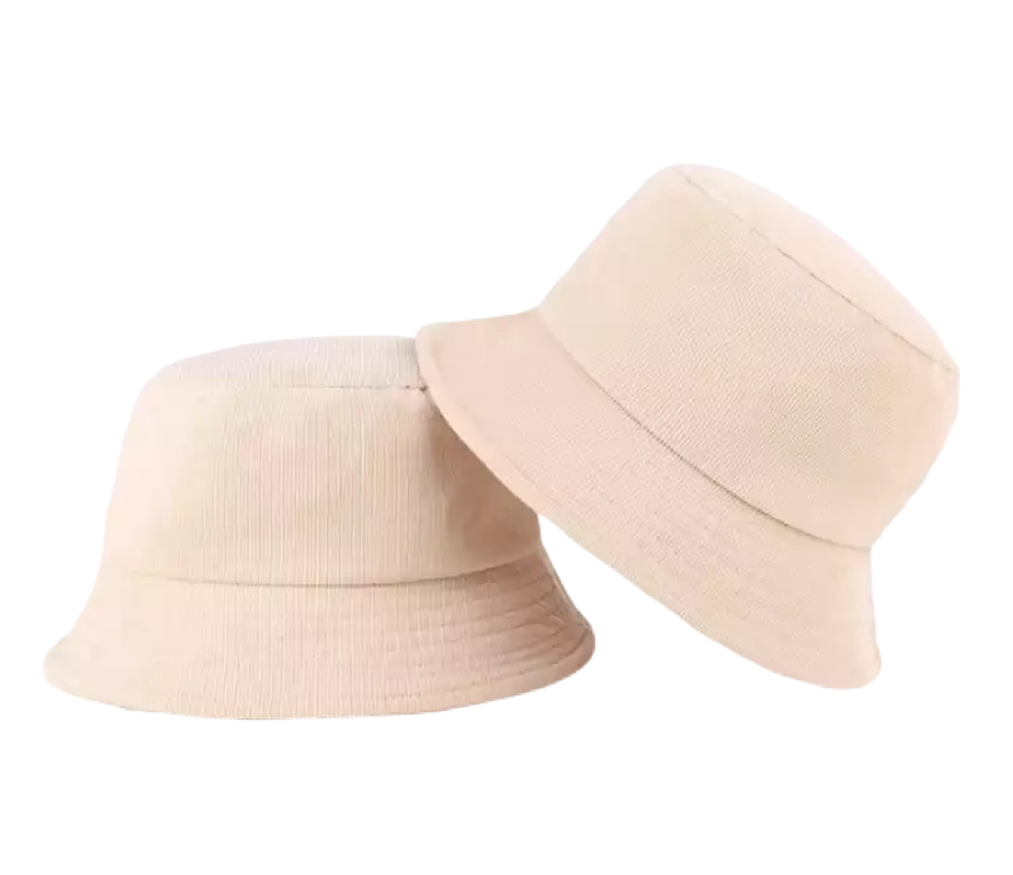Cord Bucket Hat - Beige - FLXNfashion