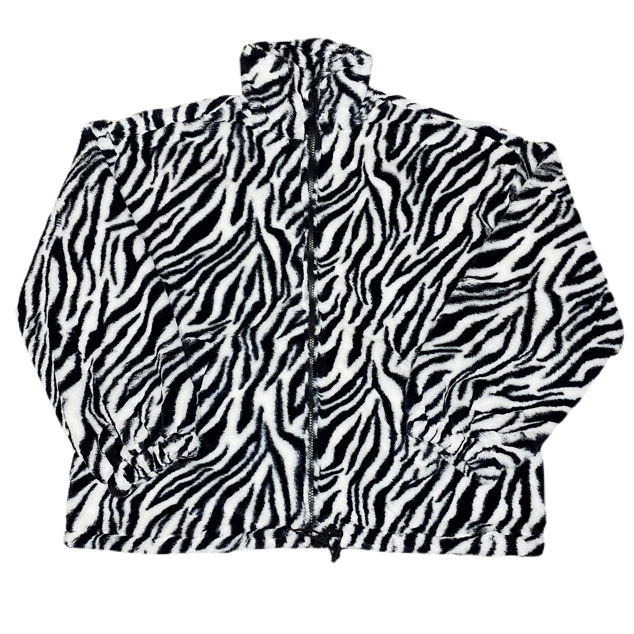 Zebra Oversized Fleece Jacket - FLXNfashion