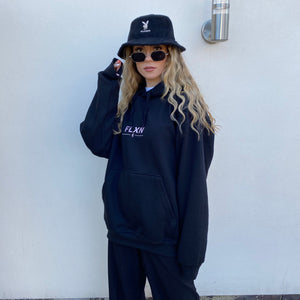 FLXN Hooded Sweatshirt - Black - FLXNfashion