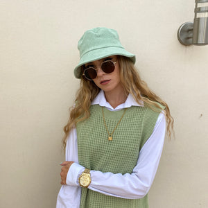 Cord Bucket Hat - Sage Green - FLXNfashion
