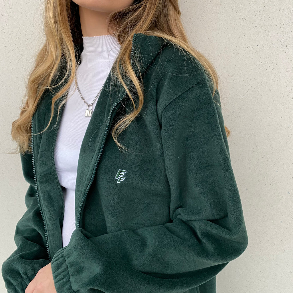 FLXN Fleece Jacket - Forest Green - FLXNfashion