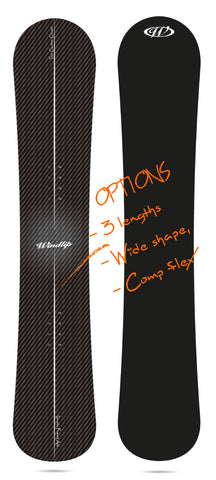 """Carbon Classic"" All Mountain snowboard  157-166cm."