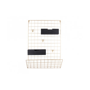 Memo Rack Grid Gold