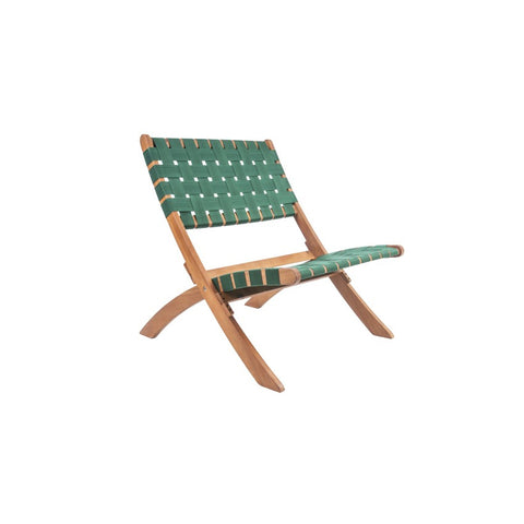 Woven Chair - Green Nylon