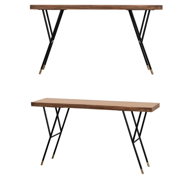 NEW YORKER Woodslab Table 1400 Black Legs (accept pre-order)