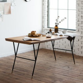 NEW YORKER Woodslab Table 1800 Black Legs (accept pre-order)